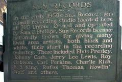 Солнце записывает студию раскрытую пионером Сэм Phillips рок-н-ролл в Мемфисе Теннесси США Стоковая Фотография RF