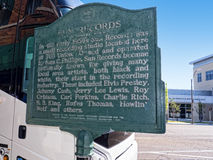Солнце записывает студию раскрытую пионером Сэм Phillips рок-н-ролл в Мемфисе Теннесси США Стоковое Изображение