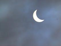 солнце затмения частично Стоковое Изображение