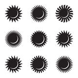 солнце иконы элементов конструкции установленное astrix космофизики иллюстрация затмения конструкции черноты предпосылки солнечна иллюстрация штока