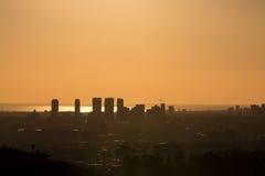 Солнце искупало Лос-Анджелес стоковая фотография rf