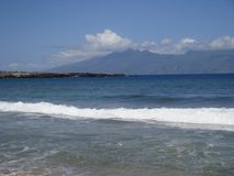 Солнце и берег Мауи Стоковые Изображения