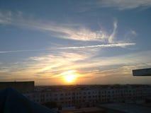 Солнце идет вниз стоковые фотографии rf