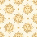 Солнце и звезда картина безшовная бесплатная иллюстрация
