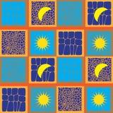 Солнце и картина луны безшовная Стоковые Изображения RF