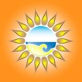 Солнце и море Стоковое Фото