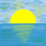 Солнце и море Стоковое Изображение