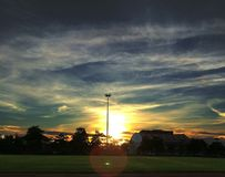 Солнце и небо Стоковые Изображения RF
