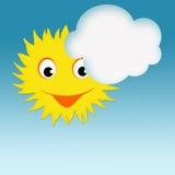Солнце и облако Стоковая Фотография