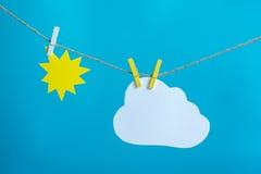 Солнце и облако Стоковое Изображение RF