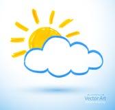 Солнце и облако Стоковые Фотографии RF