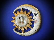 Солнце и луна, украшение Стоковые Фото