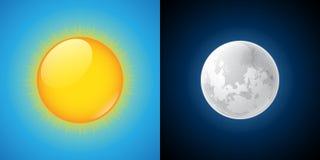 Солнце и луна бесплатная иллюстрация