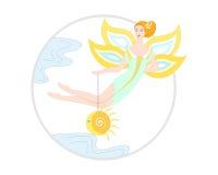 Солнце и фея Стоковое Фото