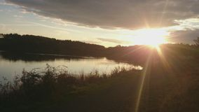 Солнце идя вниз Стоковое фото RF
