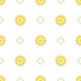 солнце картины безшовное также вектор иллюстрации притяжки corel Стоковая Фотография RF
