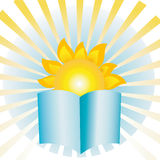 Солнце книги Стоковое фото RF