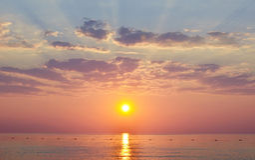 Солнце моря воды Llandscape Стоковое Фото
