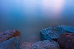 солнце моря луча fiords предпосылки Стоковая Фотография