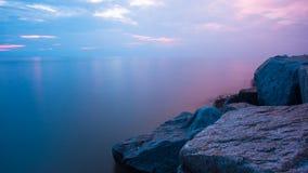солнце моря луча fiords предпосылки Стоковая Фотография RF