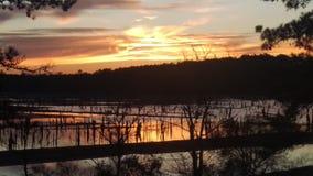 Солнце над водой Стоковое Изображение