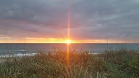 Солнце над Мексиканским заливом Стоковая Фотография RF