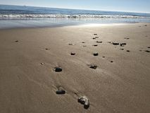 Солнце на океане воды пляжа Стоковое Изображение RF