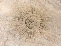 Солнце на песке Стоковая Фотография RF