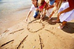 Солнце на песке Стоковая Фотография
