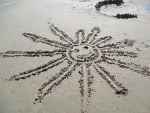 Солнце на пляже Стоковая Фотография