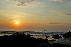 Солнце на пляже Стоковое Изображение