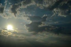 Солнце неба Стоковые Изображения