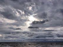 солнце облака Стоковое Изображение