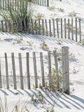 Солнце отбелило загородки песка Стоковая Фотография RF