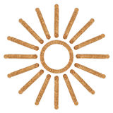Солнце от кучи монеток монеток Стоковые Фото