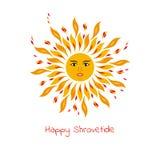 Солнце - один из символов Shrovetide Стоковое фото RF