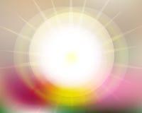 Солнце поднимает нерезкость комплектов Солнця Стоковое Фото