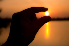 Солнце поднимает рассвет, задвижка солнца Стоковое Изображение RF