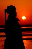 Солнце поднимая в восток Стоковое Фото