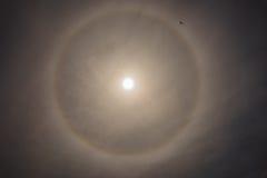 Солнце, радуга, облака Стоковая Фотография RF