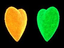 Солнце сердца форменное Стоковые Изображения RF