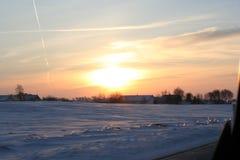 Солнце снега вниз Стоковые Фотографии RF