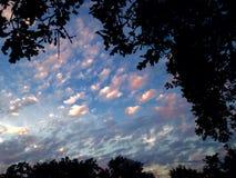 Солнце страны холма Стоковое Изображение