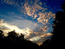 Солнце страны холма Стоковая Фотография RF