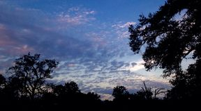 Солнце страны холма Стоковое фото RF