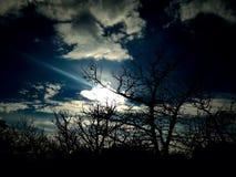 Солнце страны холма Стоковые Изображения RF