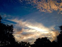 Солнце страны холма стоковые фотографии rf
