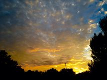 Солнце страны холма стоковое фото