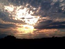 Солнце страны холма Стоковые Изображения