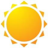 Солнце с значком короны Простое геометрическое искусство зажима бесплатная иллюстрация